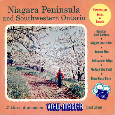 Niagara Peninsula and Southwestern Ontario - Canada - Vacationland Series - Vintage Classic View-Master -  3 Reel Packet - 1950s
