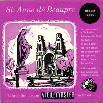 St. Anne de Beaupre - France - Vintage Classic View Master 2 Reel Packet - 1950's views