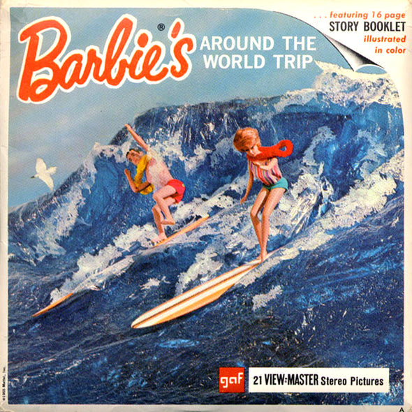 ViewMaster Barbies - Around the world trip - Vintage Classic - 3 Reel Packet - 1960s