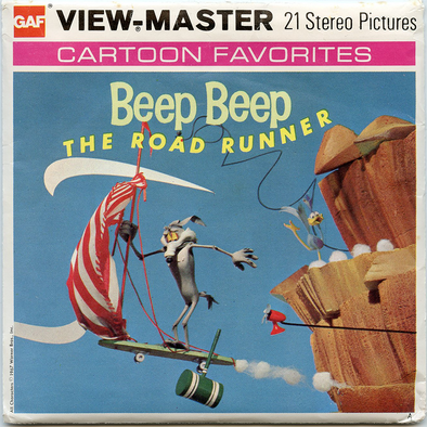 Beep Beep, The Road Runner - Vintage Classic View-Master(R) 3 Reel Packet - 1960s