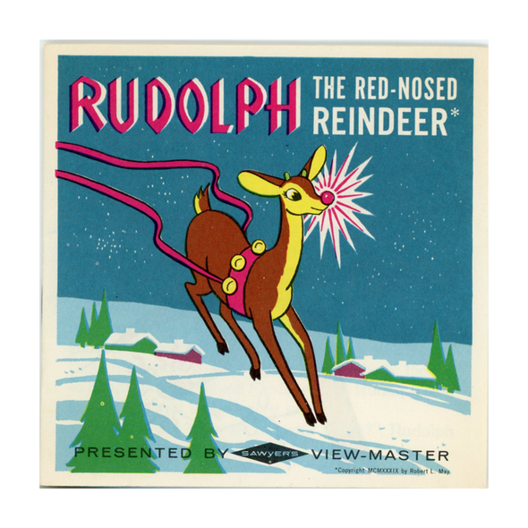 Rudolph - The Red - Nosed Reindeer - B870 - Vintage Classic View-Master - 3 Reel Packet - 1960s Views