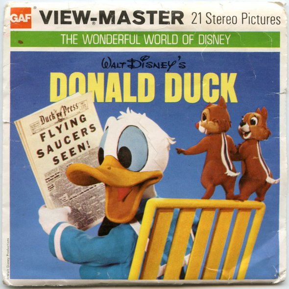 ViewMaster - Donald Duck - B525 - Vintage 3 Reel Packet - 1970s views