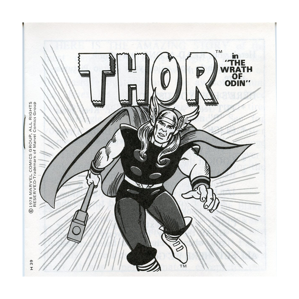 The Mighty Thor - H39 - Vintage Classic View- Master - 3 Reel Packet - 1970s Views