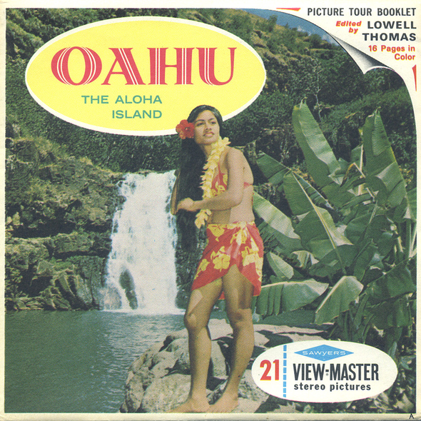 Oahu - The Aloha Island - Hawaii - A126 - Vintage Classic View-Master - 3 Reel Packet - 1960s Views