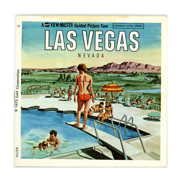 ViewMaster Las Vegas - A159 - Vintage - 3 Reel Packet - 1970s Views