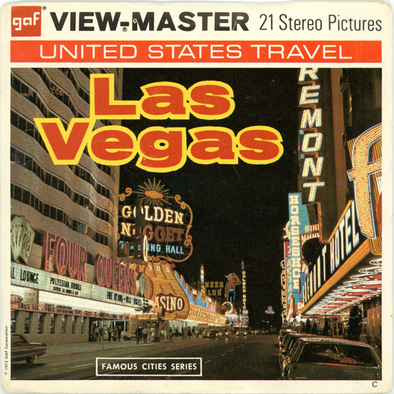 Las Vegas, Nevada - A159 - Vintage Classic View-Master(R) - 3 Reel Packet - 1970s Views