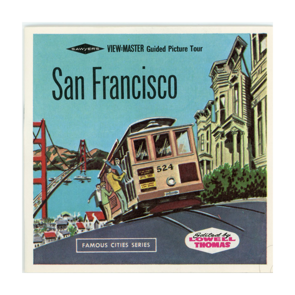 ViewMaster - San Francisco -A172 - Vintage - 3 Reel Packet - 1960s views