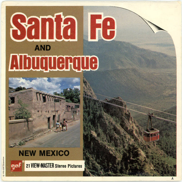 Santa Fe and Albuquerque - A379 - Vintage Classic View-Master 3 Reel Packet - 1970s views