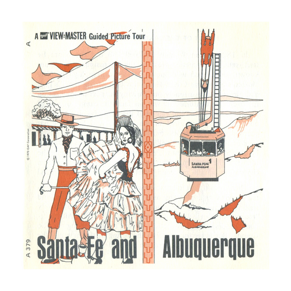 ViewMaster - Santa Fe and Albuquerque - A379 - Vintage - 3 Reel Packet - 1960s views