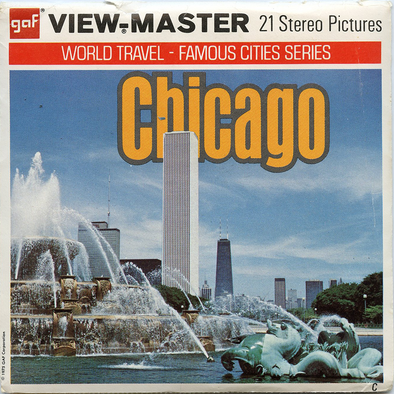 Chicago - Illinois - A551 - Vintage Classic View-Master - 3 Reel Packet - 1970s views