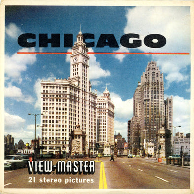 Chicago - Illinois - A551 - Vintage Classic View-Master - 3 Reel Packet - 1960s views