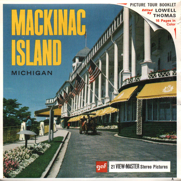 Mackinac Island - Michigan - A585 -Vintage Classic View-Master 3 Reel Packet - 1960s views