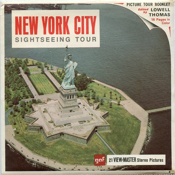 New York City - Sight-Seeing Tour - A654 - Vintage Classic View-Master(R) - 3 Reel Packet - 1960s Views