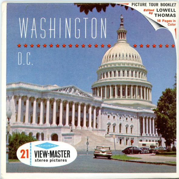 Washington, D.C. - A790 - Vintage Classic View-Master - 3 Reel Packet - 1970s Views