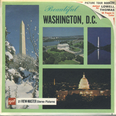 Washington, D.C. - A800 - Vintage Classic View-Master 3 Reel Packet - 1960s views