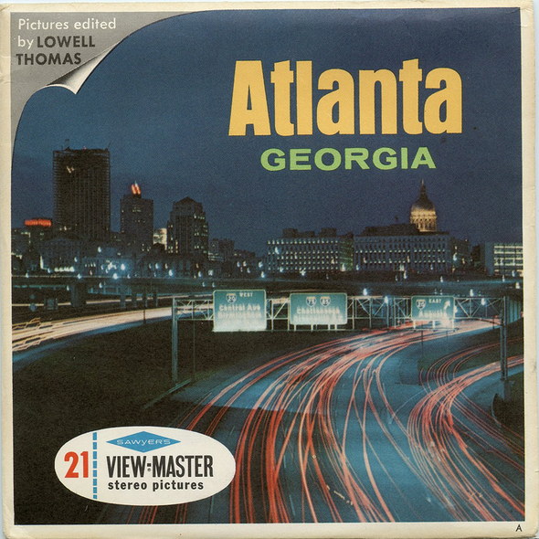 Atlanta - Georgia - A916 - Vintage Classic View-Master - 3 Reel Packet - 1960s Views