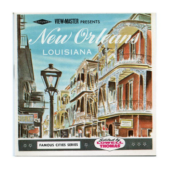 View Master - New Orleans - Louisiana - A946- Vintage - 3 Reel Packet - 1960s views