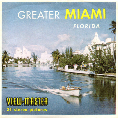 Greater Miami - Florida - Vintage Classic View-Master(R) 3 Reel Packet - 1960s views