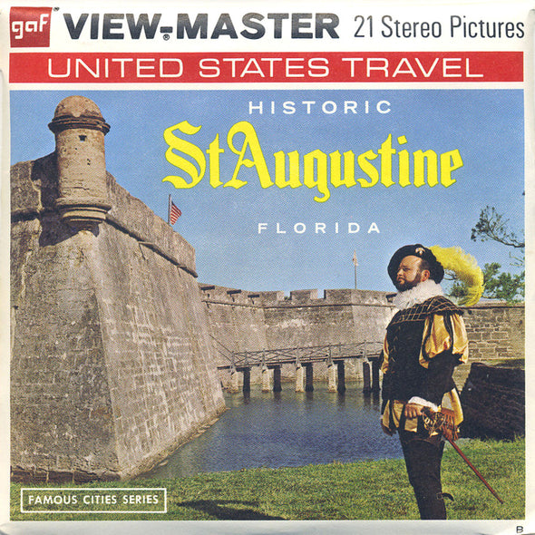 St. Augustine, Florida  - Vintage Classic View-Master 3 Reel Packet - 1970s views