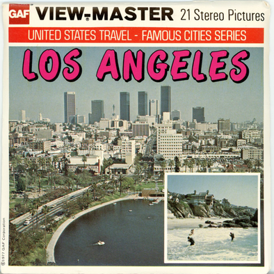 Los Angeles, California - H63 -  Vintage Classic View-Master(R) - 3 Reel Packet - 1970s Views