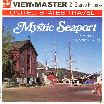 Mystic Seaport - Mystic, Connecticut - Vintage Classic View-Master® - 3 Reel Packet - 1970s Views