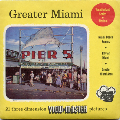 Greater Miami - Vacationland Series - Vintage Classic View-Master 3 Reel Packet - 1950s views