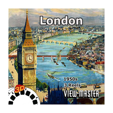 London - Vintage Classic View-Master - 1950s views