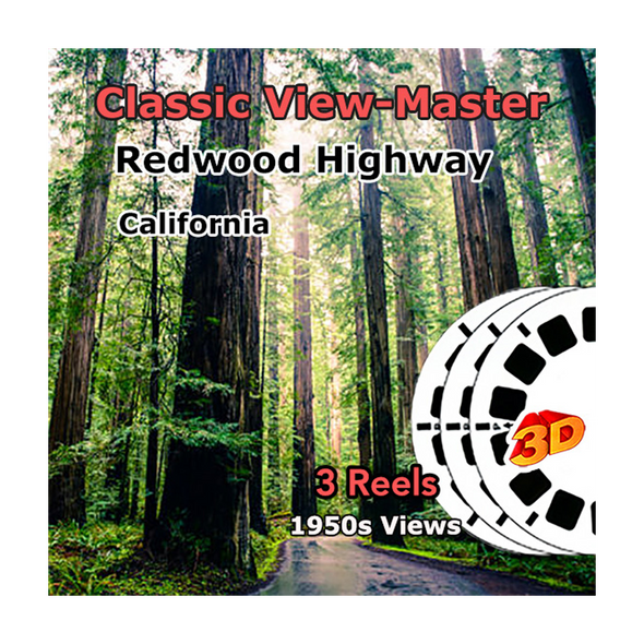 Redwood Highway, California - Vintage Classic View-Master - 1950s views