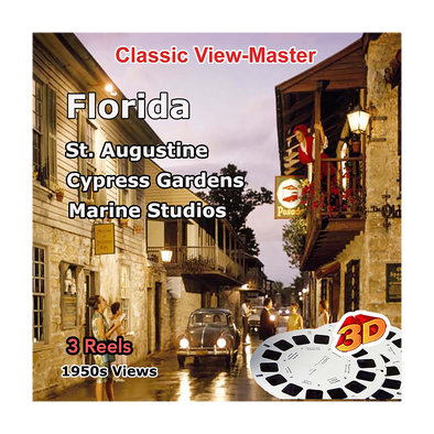 St. Augustine-Cypress Gardens-Marine Studios - Florida - Vintage Classic View-Master - 1950s views
