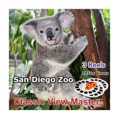 San Diego Zoo  - Vintage Classic View-Master - 1950s views