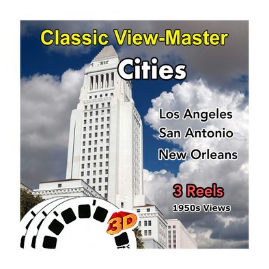 Los Angeles, San Antonio and New Orleans - Vintage Classic View-Master - 1950s views