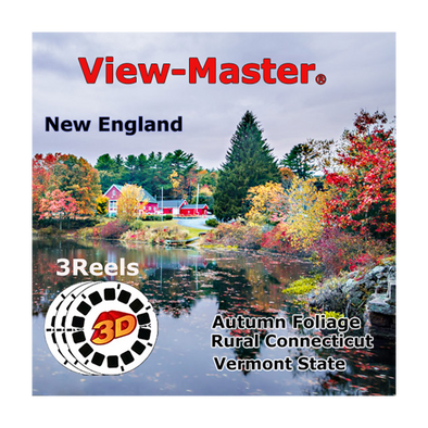 New England - Rural Connecticut, Vermont State, Autumn Foliage - Vintage Classic View-Master® - 1950s views