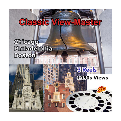 Boston, Philadelphia, Chicago - Vintage Classic View-Master - 1950s views