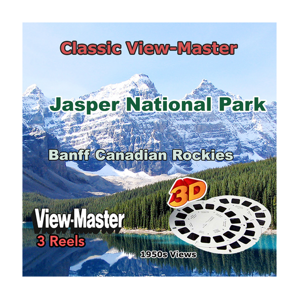 Jasper National Park and Banf Canadian Rockies - Vintage Classic View-Master - 1950s views