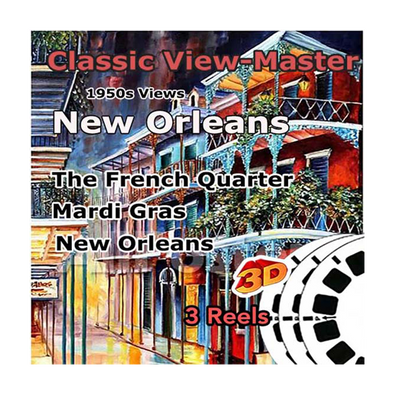 New Orleans, Louisiana - Vintage Classic View-Master - 1950s views