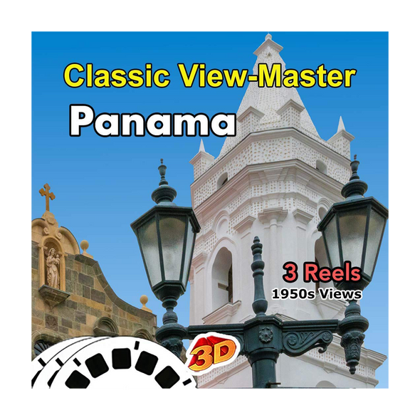 Panama City, Old Panama, Island of Bermuda  - Vintage Classic View-Master - 1950s views