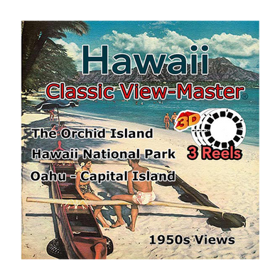 Oahu, The Capital Island - Hawaii, The Orchid Island - Hawaii National Park -  Vintage Classic View-Master® - Set of 3 Reels - 1950s views