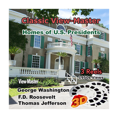 Homes of U.S. Presidents. - Vintage Classic View-Master® - 1950s views