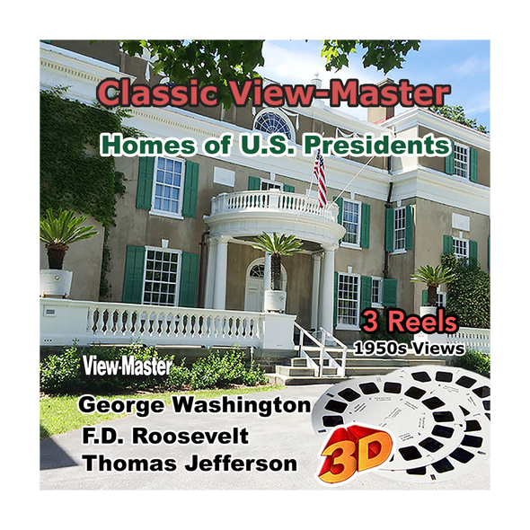Homes of U.S. Presidents. - Vintage Classic View-Master - 1950s views
