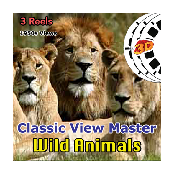 Wild Animals  - Vintage Classic View-Master - 1950s views