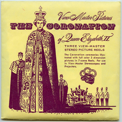 Coronation of Queen Elizabeth II - Vintage View-Master 3 Reel Packet - 1950s Views