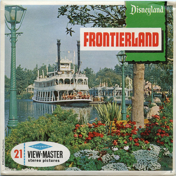 ViewMaster - Frontierland - Disneyland - Vintage - 3 Reel Packet - 1960s views - A176