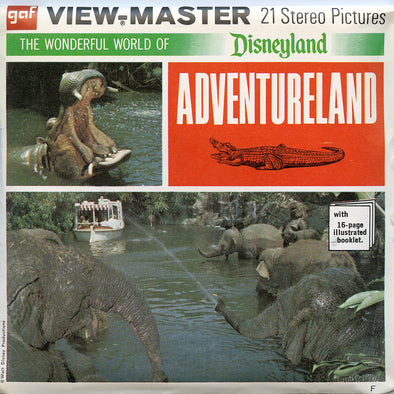 ViewMaster - Adventureland - Walt Disney - Vintage  - 3 Reel Packet - 1970s Views - A177