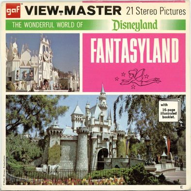 ViewMaster - Fantasyland - Walt Disney - Vintage Classic - 3 Reel Packet - 1970s Views - A178