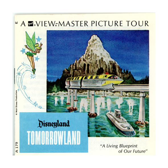 ViewMaster - Tomorrowland - Disney  - Vintage - 3 Reel Packet - 1970s Views - A179