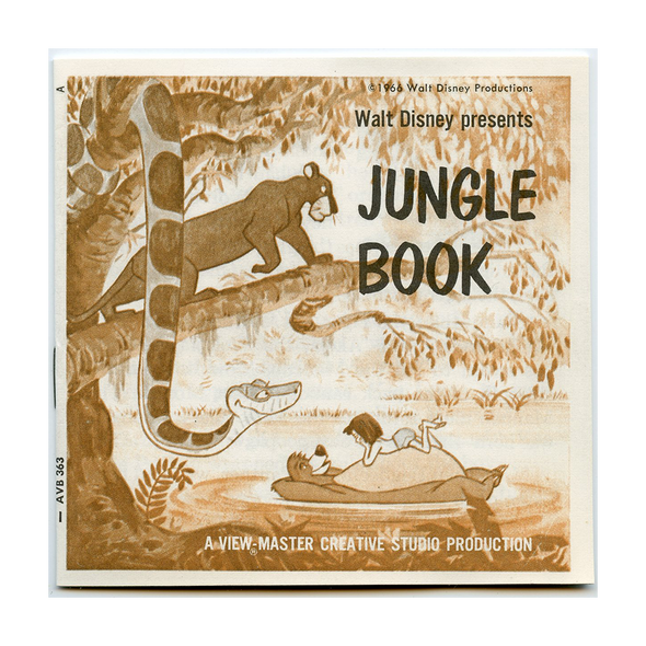 Jungle Book - B363 - Vintage View-Master - 3 Reel Packet - 1970s views