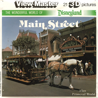 ViewMaster -Main Street - Disneyland - Vintage - 3 Reel Packet -1970's views - K1