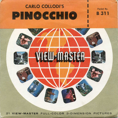 Pinocchio - B311 - Vintage View-master - 3 Reel Packet - 1950's view