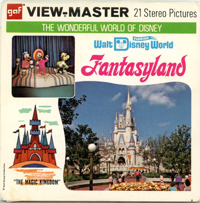Fantasyland - Waldiisney World - A948 - Vintage Classic View-Master - 3 Reel Packet - 1970s Views