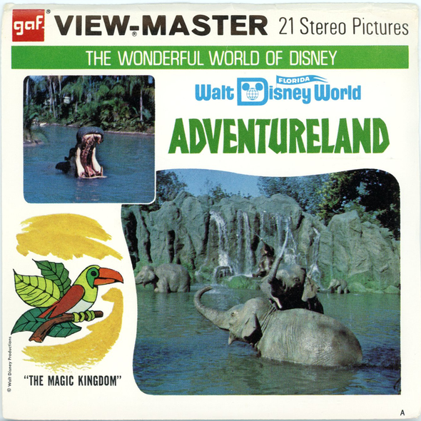 ViewMaster Adventureland - Walt Disney World - A949 - Vintage Classic  - 3 Reel Packet - 1970s Views